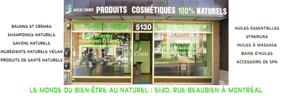 Biocos Canada Cosmétiques 100%  bio-naturels